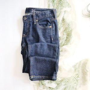 J Crew Matchstick Skinny Jeans 25 Short Dark Wash
